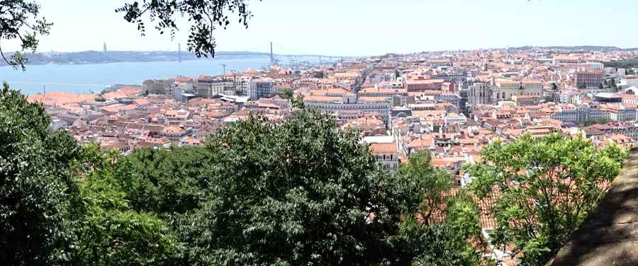 View over Lisbon and the Tagus from Castelo de Sao Jorge
