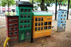 Utility boxes: Electrical cabinets Brunnsparken