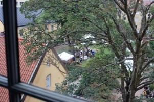 The re-enactors' encampment from Kronhuset's thrird floor