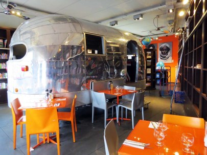 The diner in the Travel section
