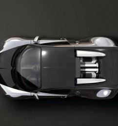2008 bugatti 164 veyron pur sang top view  [ 1024 x 768 Pixel ]