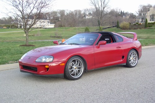 small resolution of toyota supra in red