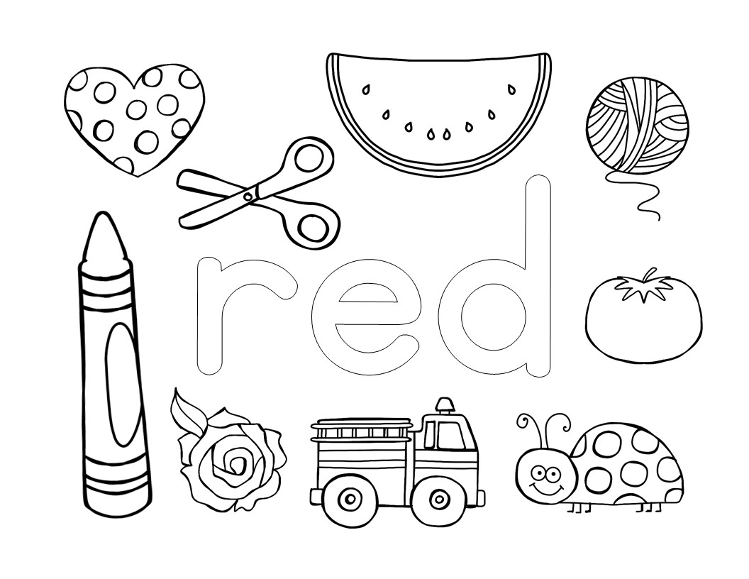 Color Names Coloring Pages