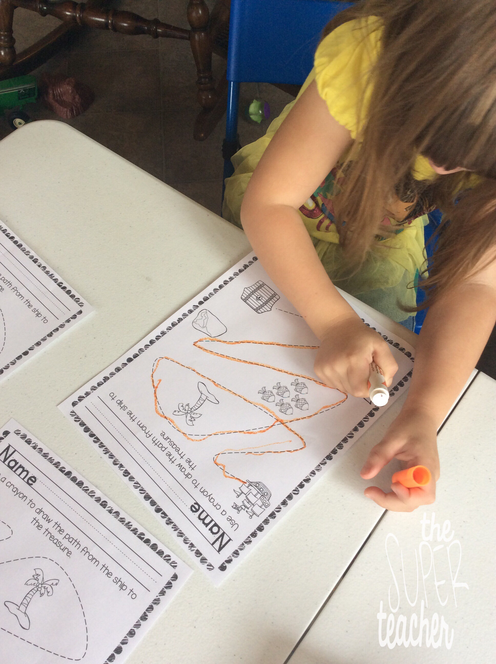 Week B Bus Preschool Tracing Worksheet. Week. Best Free Printable Worksheets