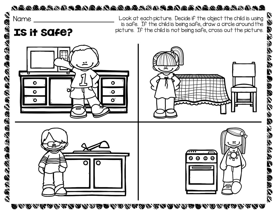 Kitchen Safety Worksheets and Activities Pack - The Super ...