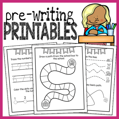 Preschool Prewriting Worksheets from The Super Teacher