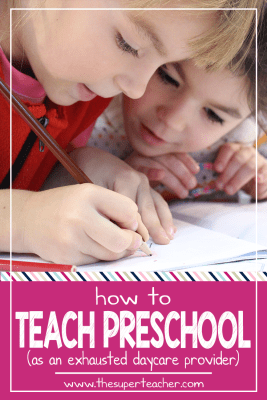 How to teach preschool as an exhausted daycare provider
