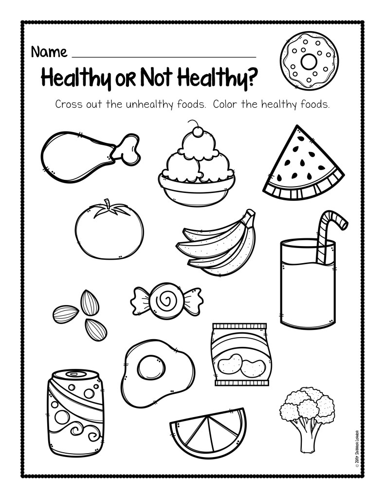 healthy food coloring pages | Healthy Foods Worksheet [FREE DOWNLOAD] - The Super Teacher