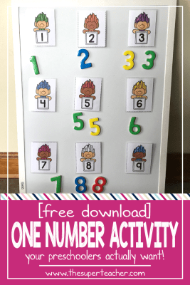 FREE Number Activity Your Preschoolers Will Love!