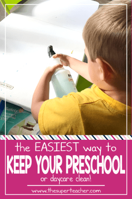 The Easiest Way to Keep Your Preschool Clean