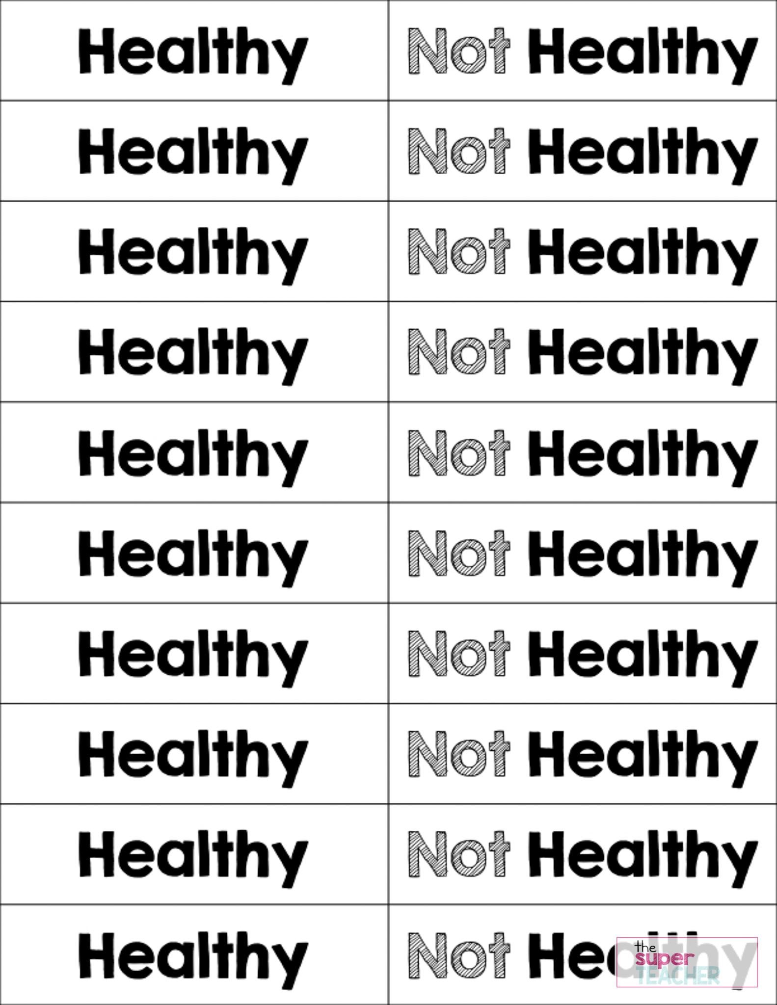 medium resolution of Healthy Foods Worksheet FREE DOWNLOAD – The Super Teacher