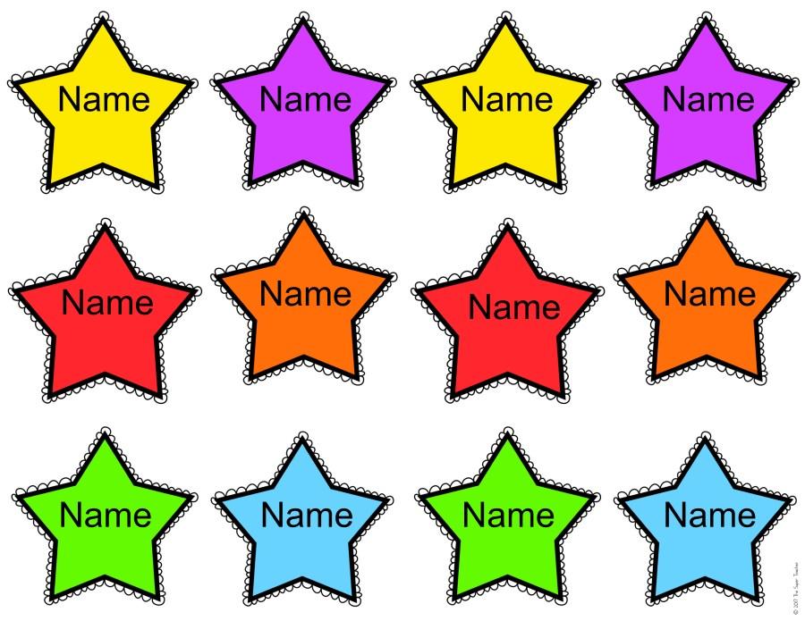 FREE Editable Name Stars