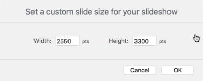 Custom Slide Size for Toy Labels