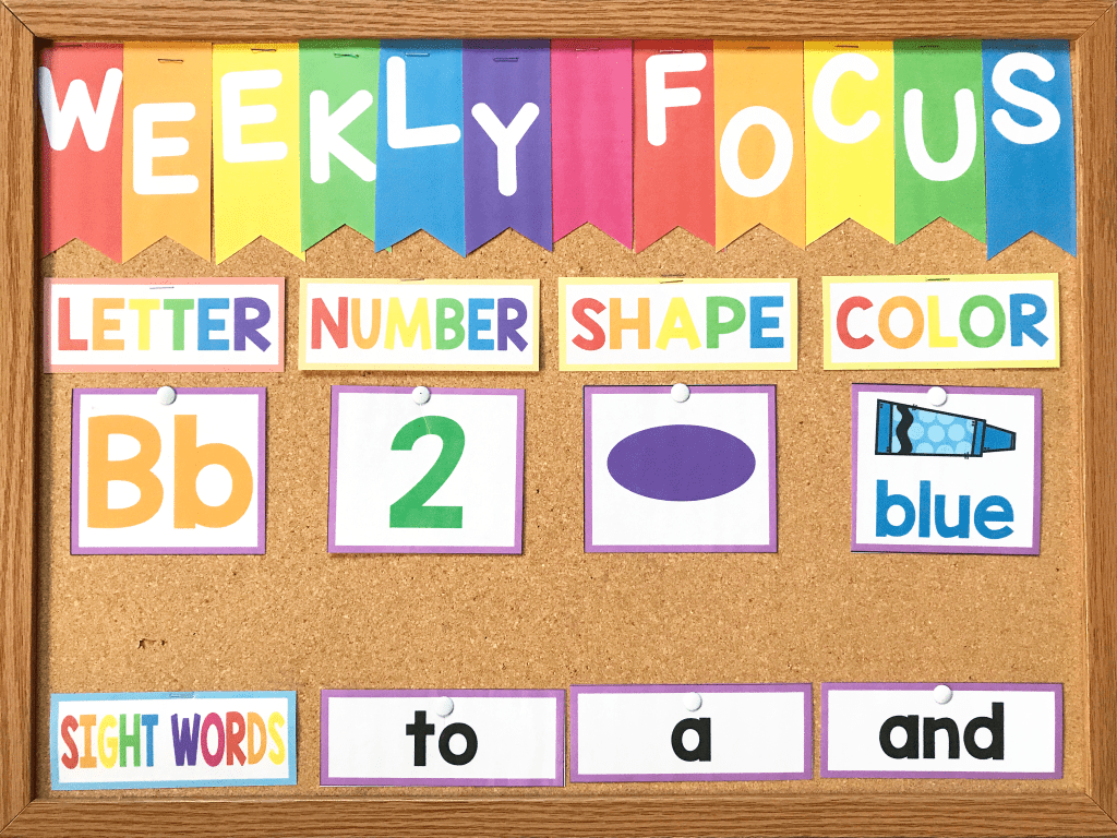 This is What Happens When You Use a Preschool Focus Wall