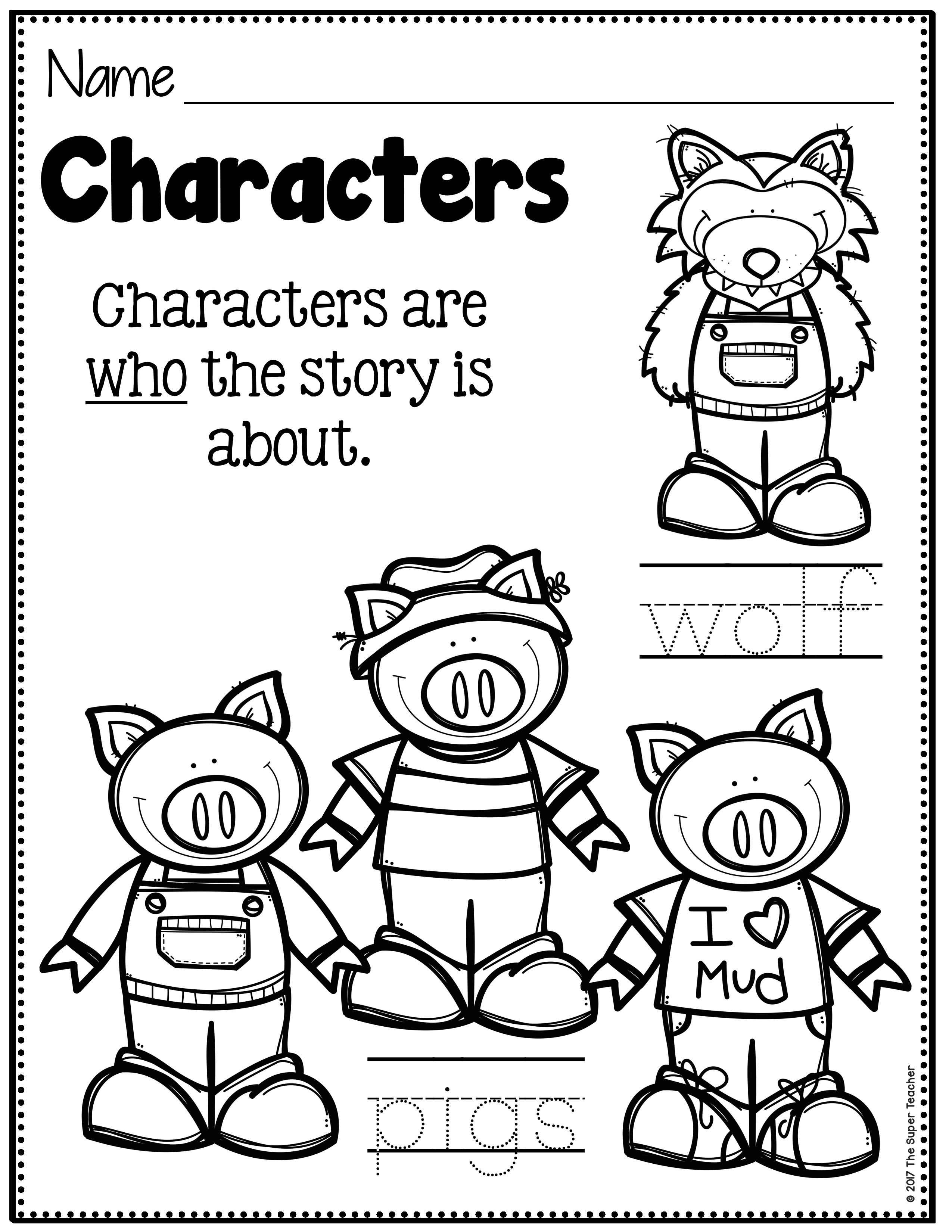 Story Elements Made Practical and Fun with Familiar Characters