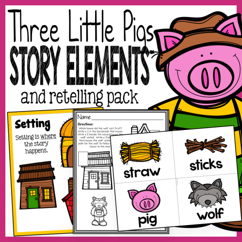 small resolution of Three Little Pigs Story Elements and Story Retelling Worksheets – The Super  Teacher