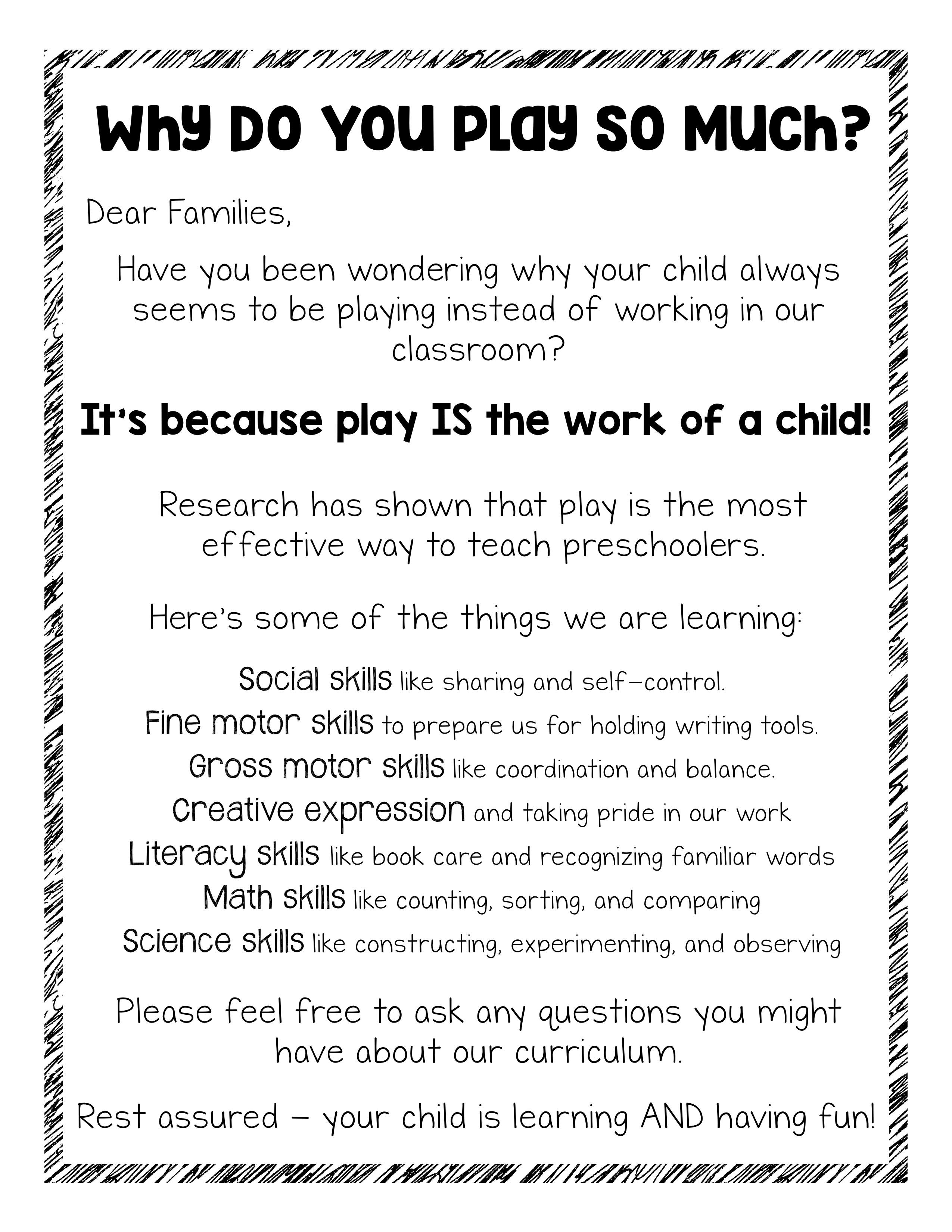 Free Parent Handout This Is Actually Why We Play The