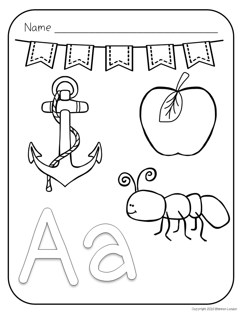 Letter Coloring Pages – Alphabet and Pictures