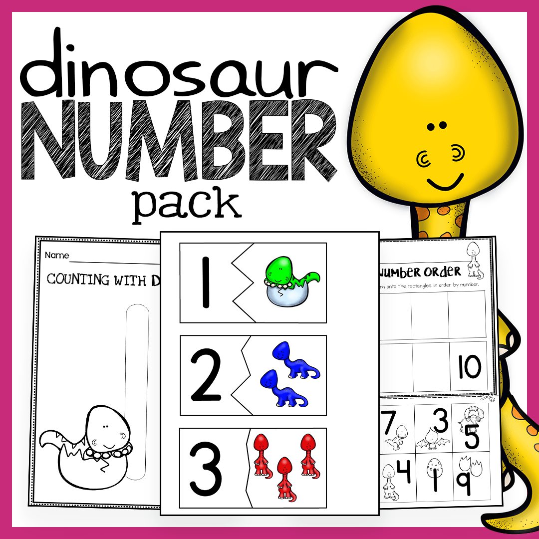 small resolution of Dinosaur Unit – Number Worksheets