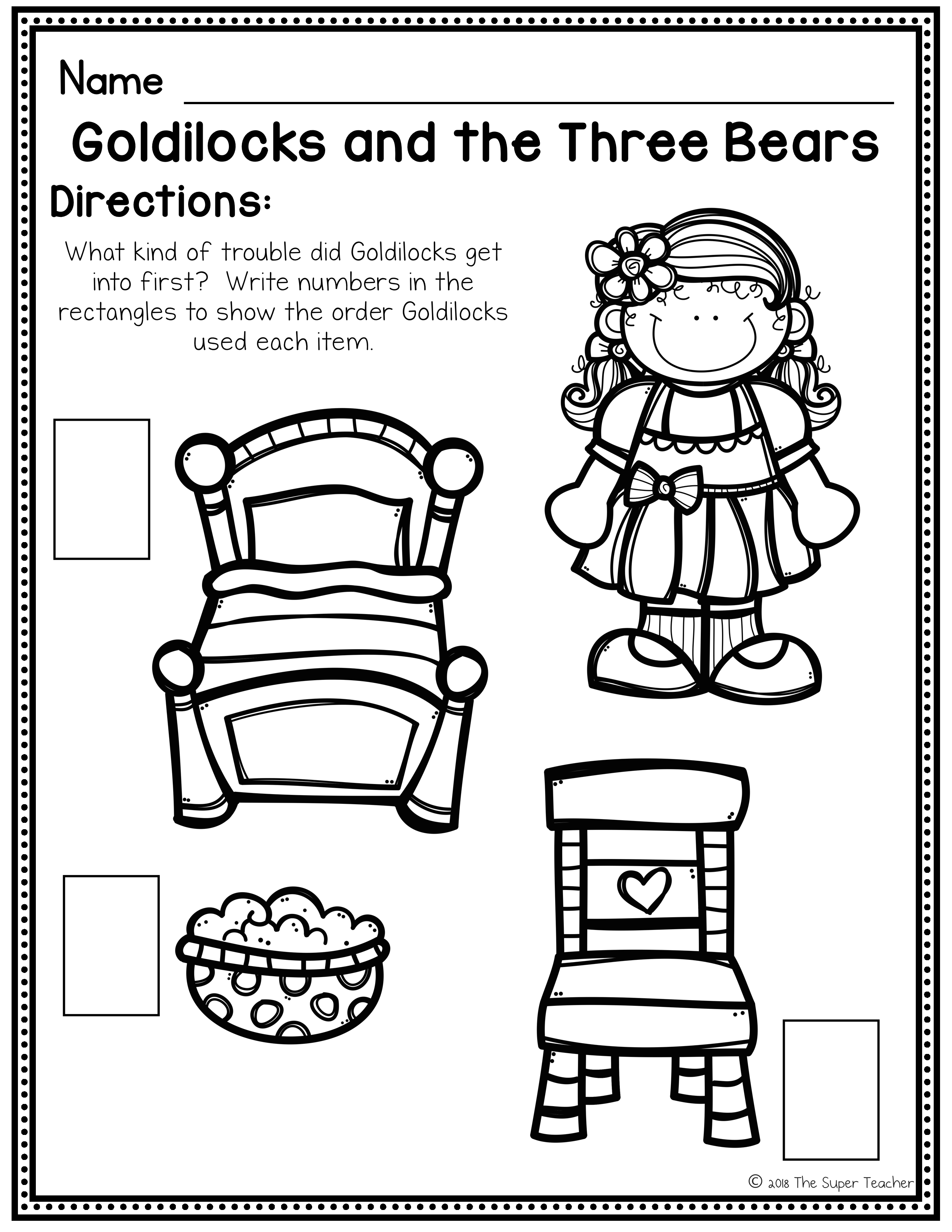 Goldilocks and the Three Bears Story Elements and Story