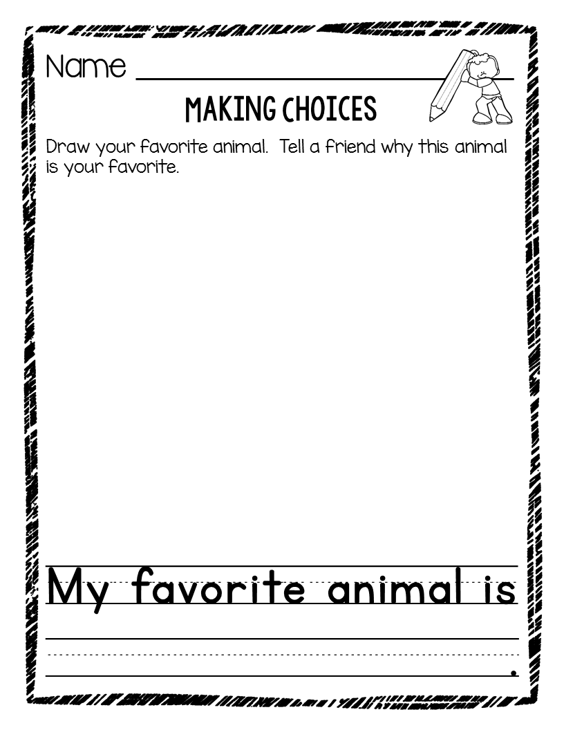 Charming Writing Prompts For Preschool And Kindergarten U2013 Writing Templates