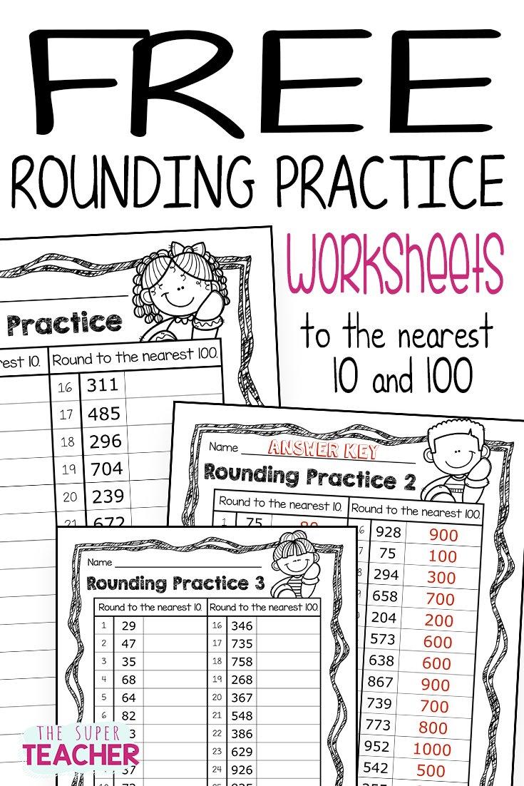 Free Rounding Practice Worksheets – The Super Teacher [ 1102 x 735 Pixel ]