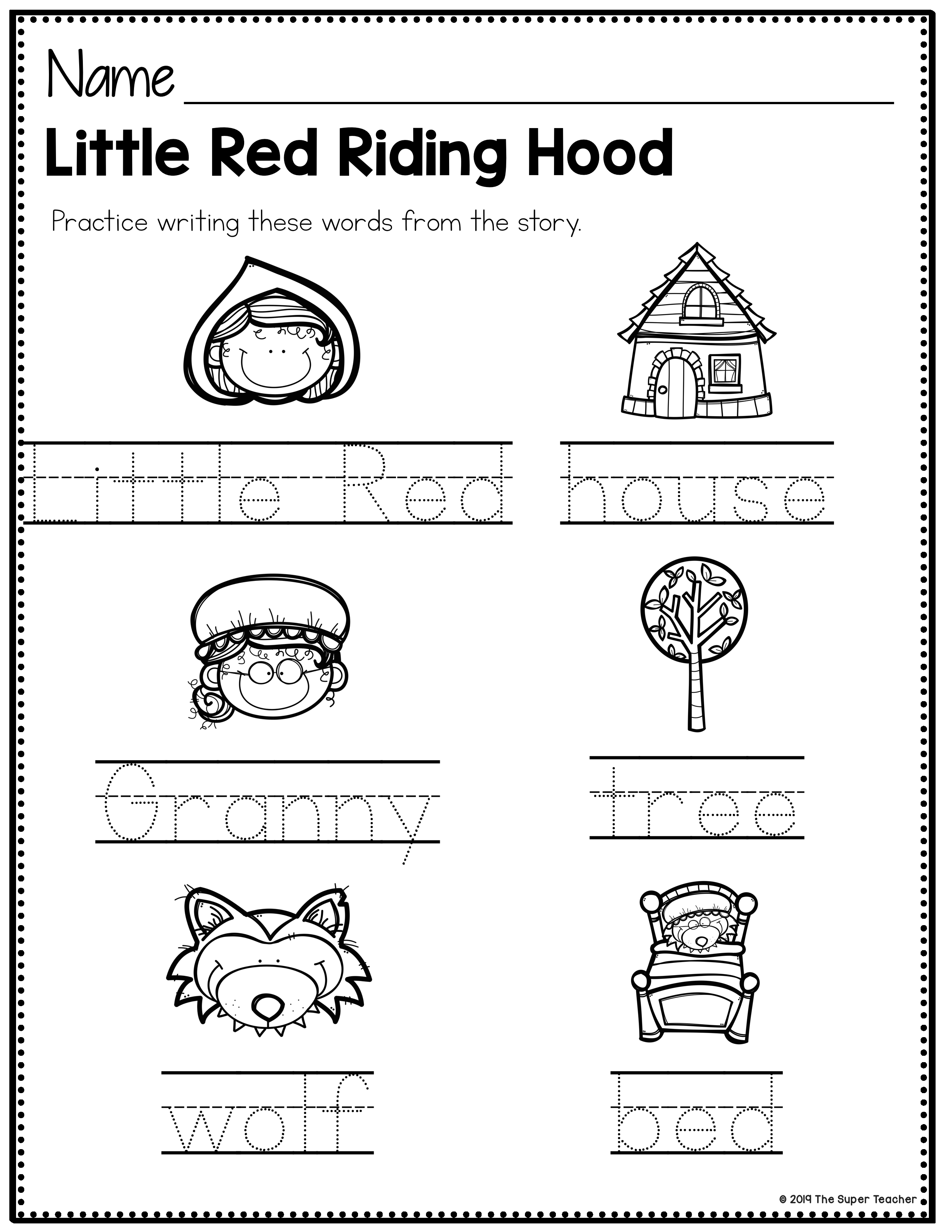 Little Red Riding Hood Unsecure 006 The Super Teacher