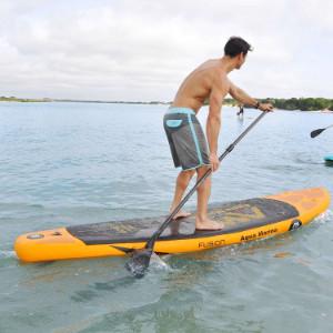 male on Aqua Marina Fusion paddle board