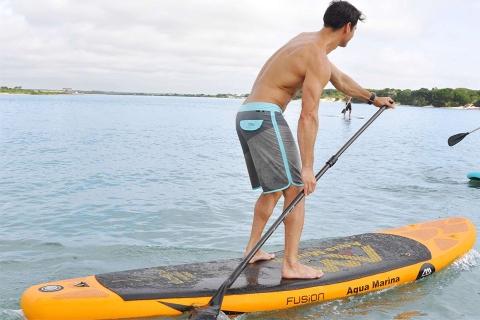 man paddling aqua marina fusion sup