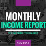 Blog Income Report and Business Update–November 2016