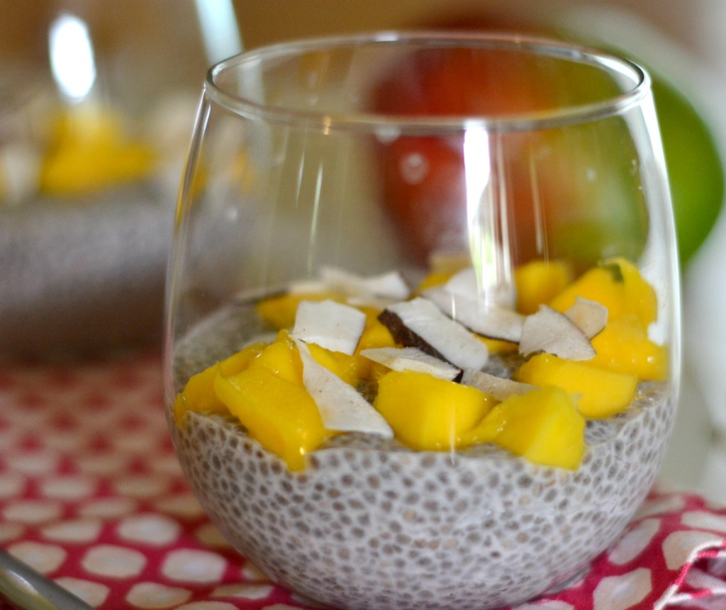 Tropical Chia Pudding| You can't go wrong when you top your chia with mango and coconut. | www.thesurferskitchen.com