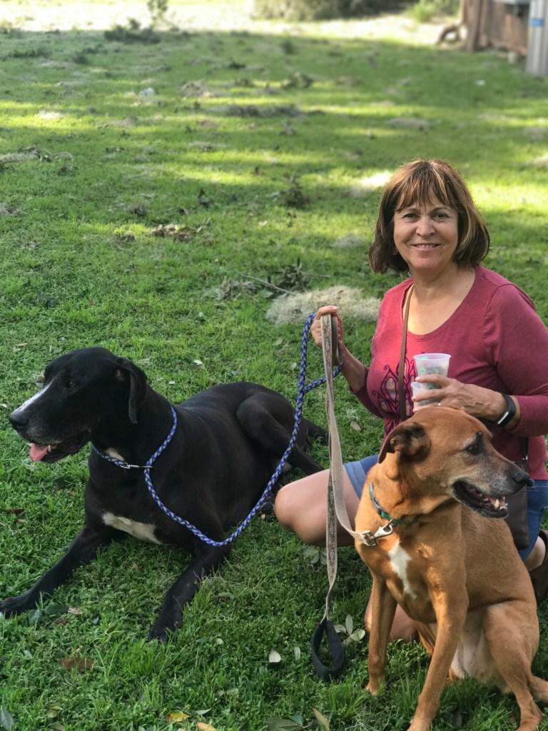 Grandma with Dogs Irma