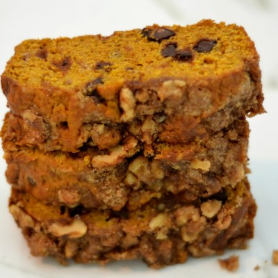 Chocolate Chip Pumpkin Bread with Streusel Topping