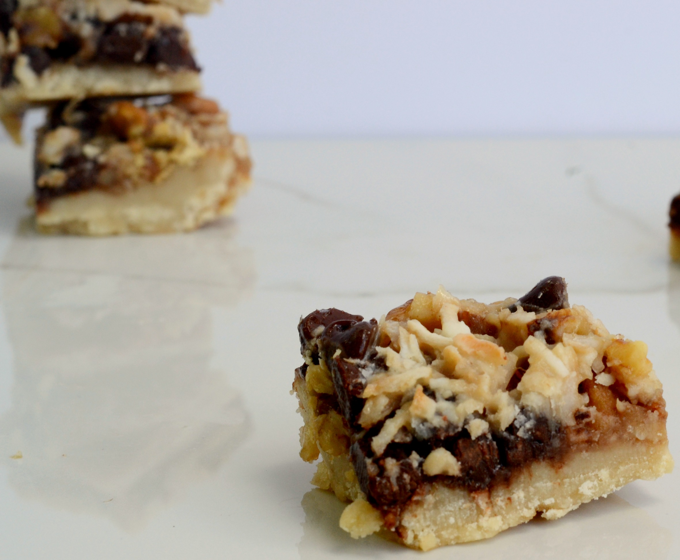 It might be hard to believe that these five layer bars can be vegan but it is true! Vegan food can be fun! | www.thesurferskitchen.com