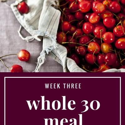 Whole 30 Meal Plan: Week 3