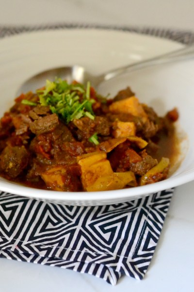 Beef Tip and Sweet Potato Chili