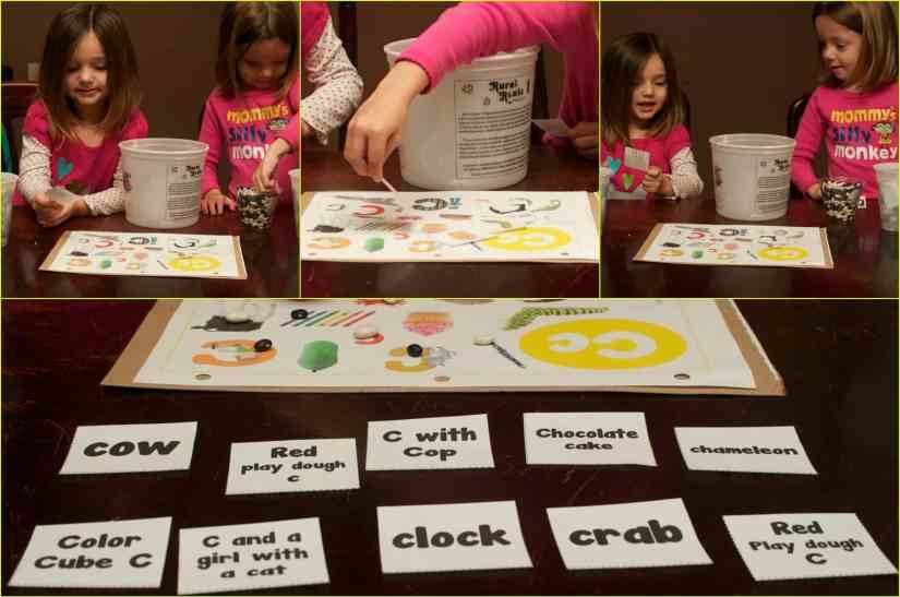 Letter C sensory activity