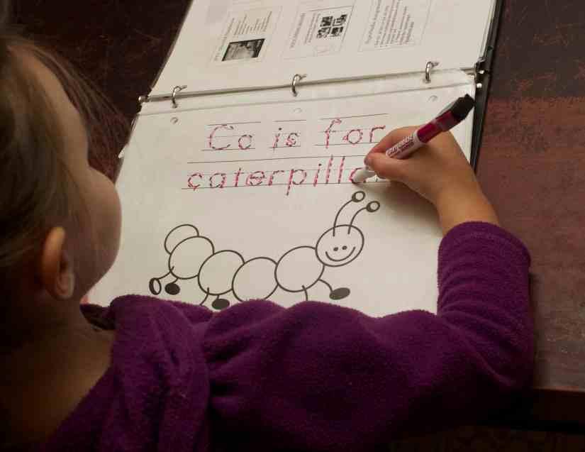 C is for caterpillar worksheet