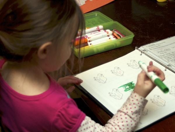 frog worksheets for preschoolers