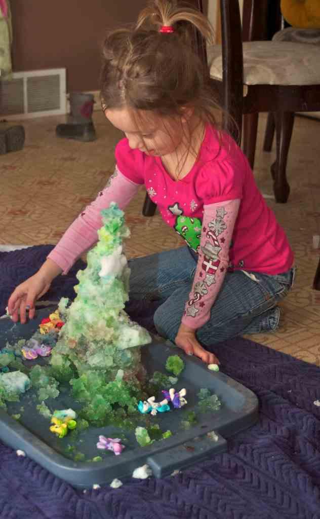 snow sensory play activity