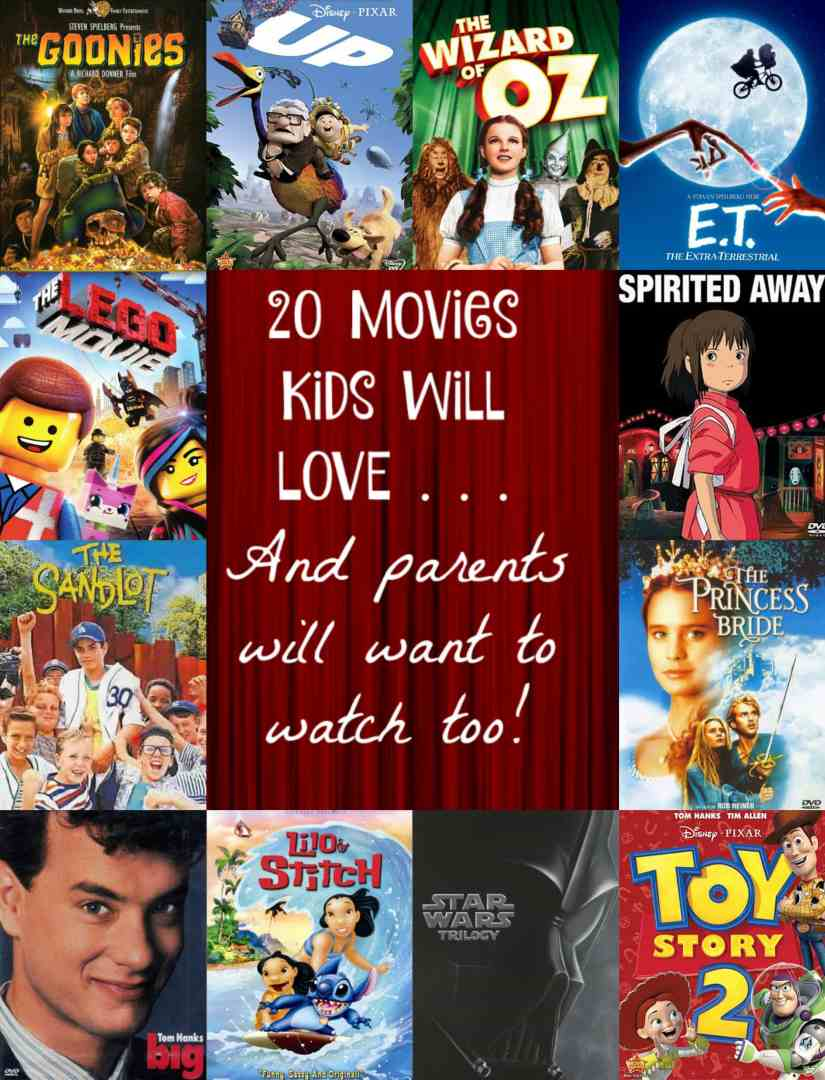 Family movie night doesn't have to be just kids movies. If you need family movie night ideas, click here for movies the whole family with enjoy