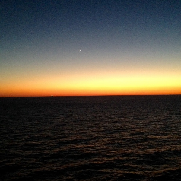 Sunset aboard the Carnival Dream
