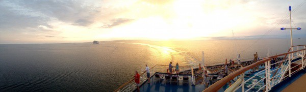 Sunrise off coast of Belize City