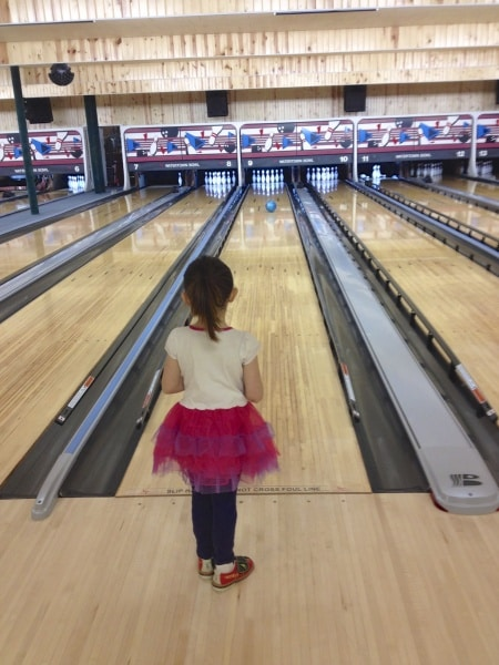 Lilly bowling