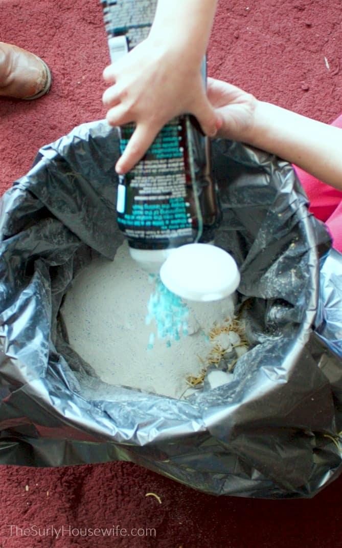 mixing DIY Laundry Detergent