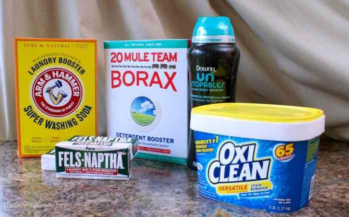 DIY Laundry Detergent ingredients