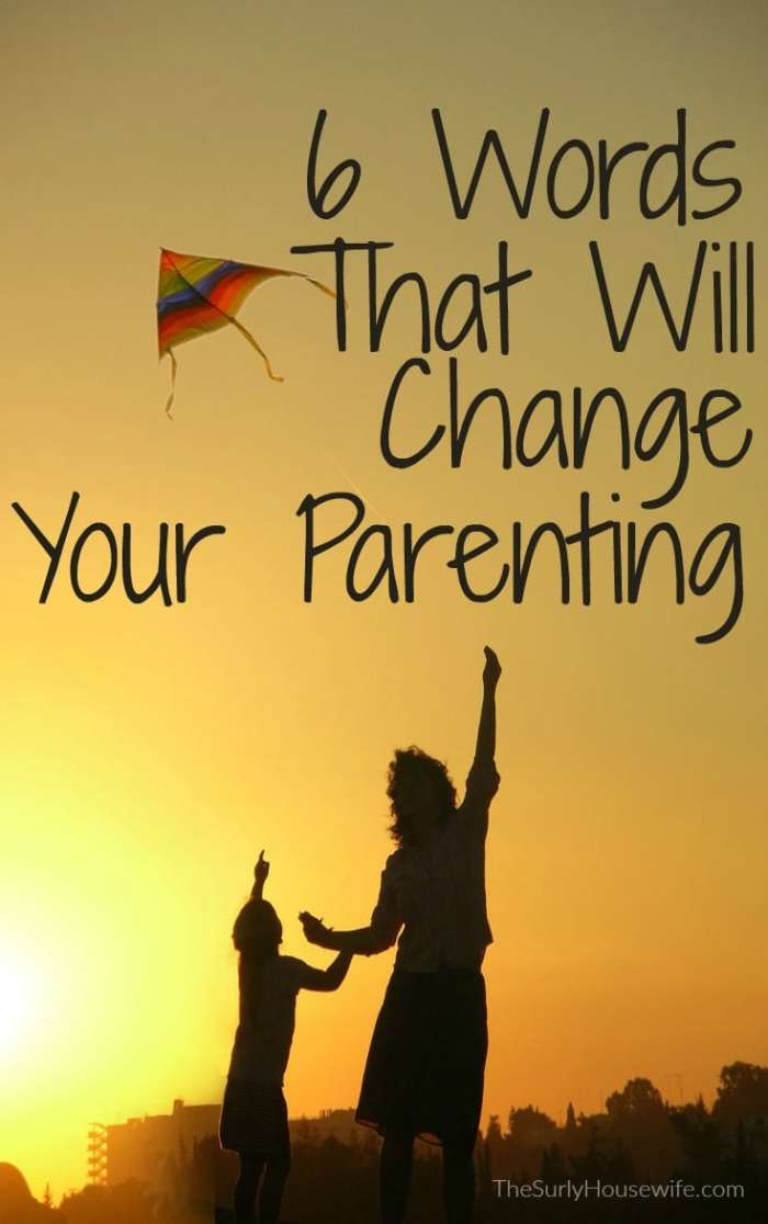 Parenting is something in your life that desperately needs a hack. With this 6-word parenting hack, you will find yourself in control and lecturing less.