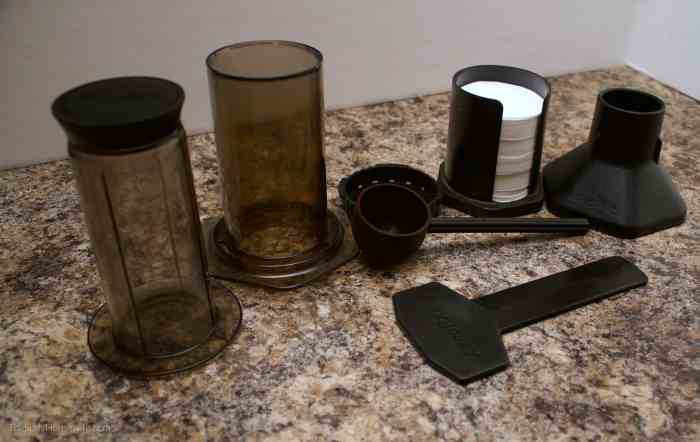 all the accessories that come with the Aeropress