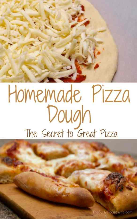 Are you looking for a homemade pizza dough that is to die for?! Look no further. This crust is chewy, fluffy, and crisp. Click here for more!
