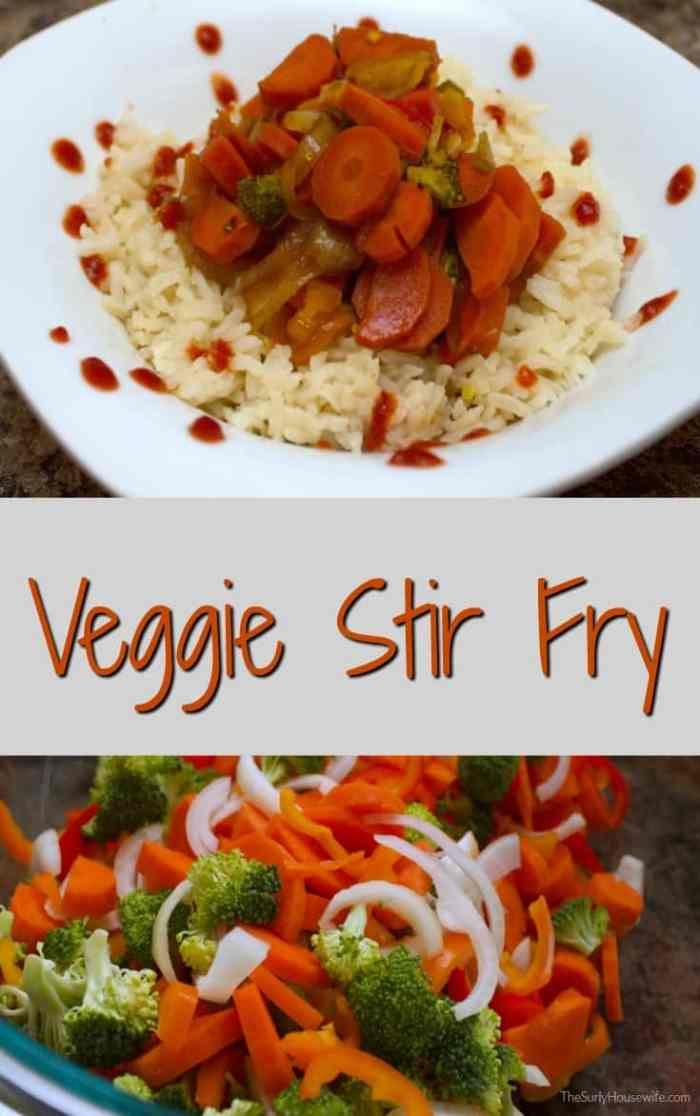 Veggie stir fry is one of my go-to recipes. It is quick, easy adapt, and nutritious. And best of all my loves it. Click here for the recipe!!